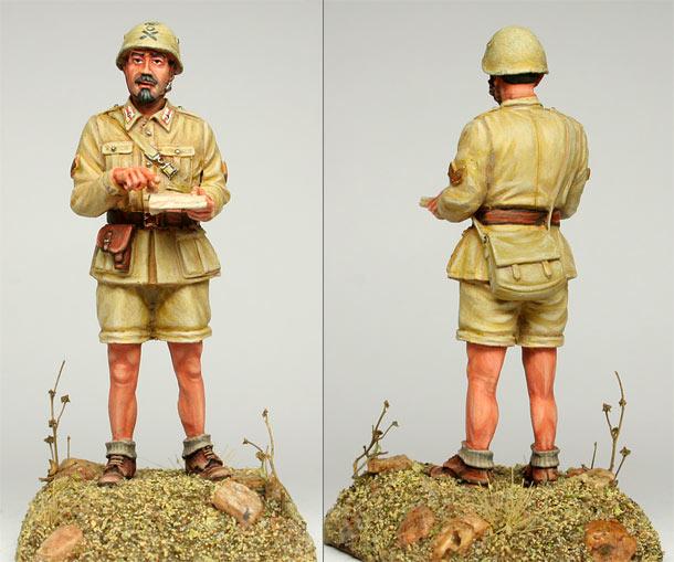 Фигурки: Итальянский сержант, Ливия