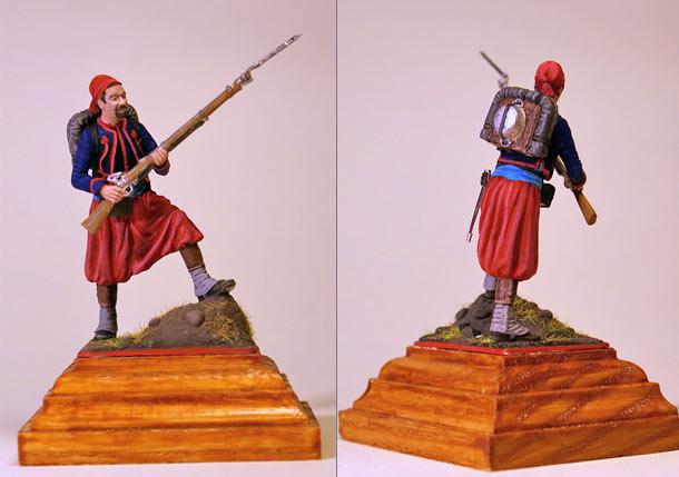 Фигурки: Французкий зуав, Крымская война