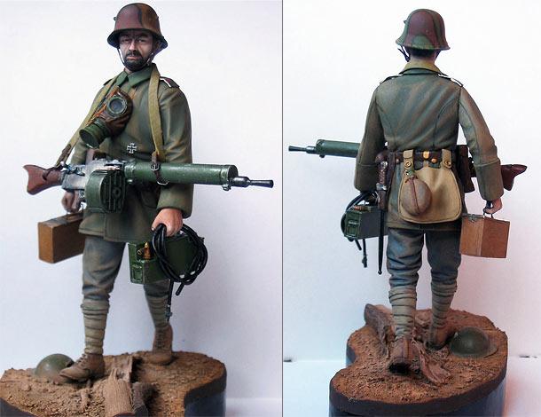 Фигурки: Германский пулеметчик, 1МВ