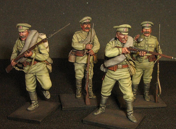 Фигурки: Русские пехотинцы, Первая Мировая