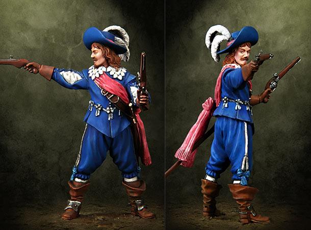 Фигурки: Офицер мушкетеров, Европа, XVII век.