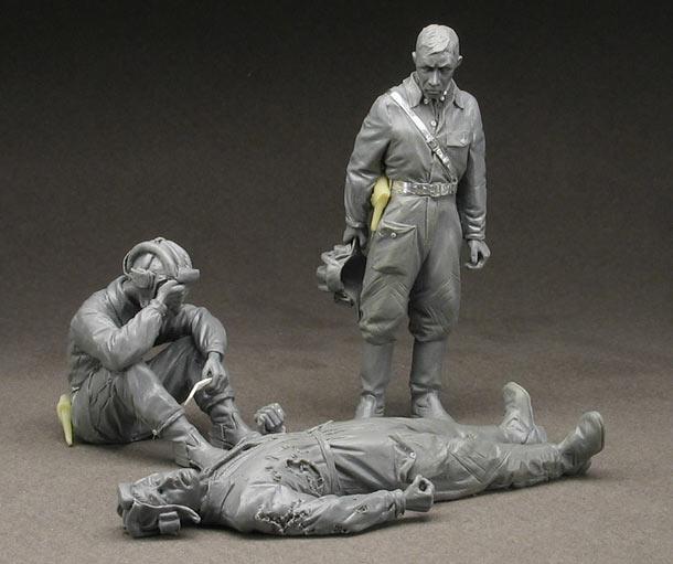 Скульптура: Три танкиста