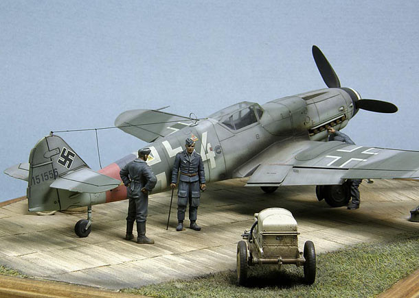 """Bf.109G-10, или """"Густав на паркете"""" Диорамы и виньетки Галерея на Diorama.ru"""