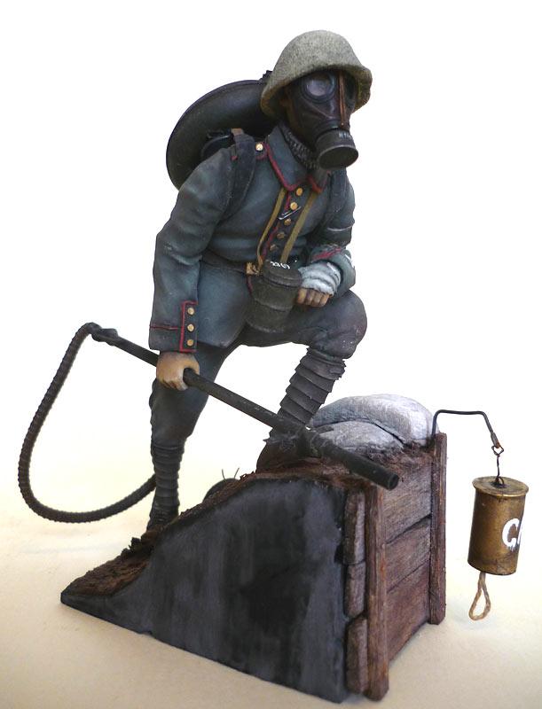 Фигурки: Огнеметчик штурмовой роты 21-й резервной дивизии, 1917, фото #1