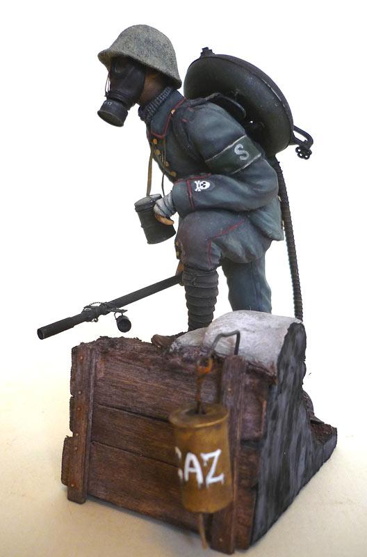 Фигурки: Огнеметчик штурмовой роты 21-й резервной дивизии, 1917, фото #2