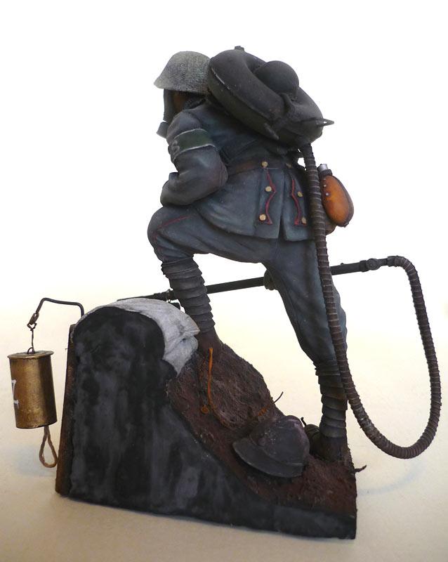 Фигурки: Огнеметчик штурмовой роты 21-й резервной дивизии, 1917, фото #4