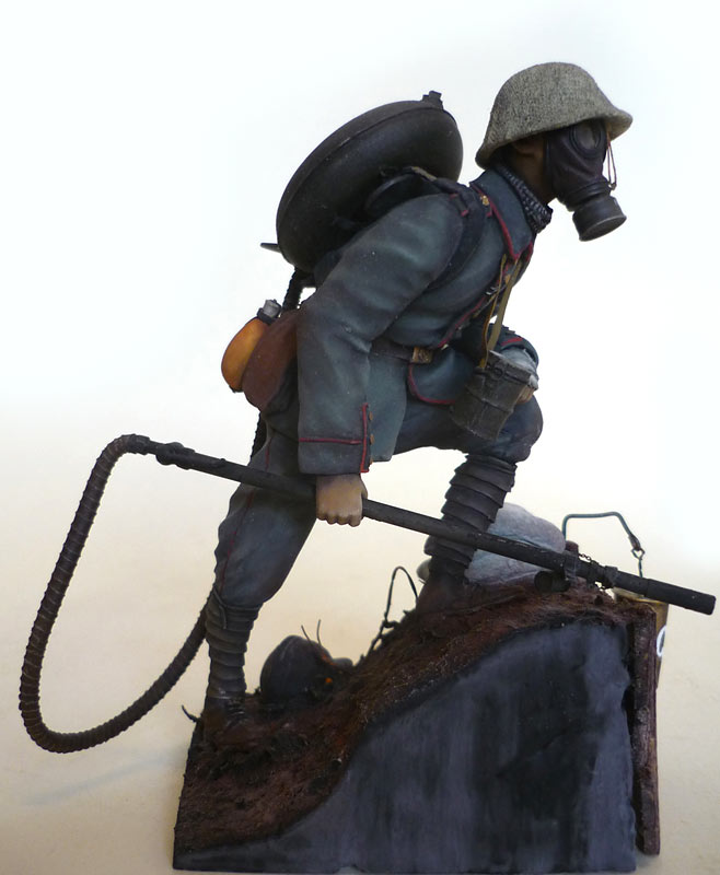 Фигурки: Огнеметчик штурмовой роты 21-й резервной дивизии, 1917, фото #7