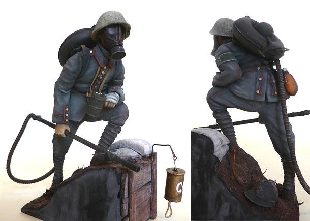 Фигурки: Огнеметчик штурмовой роты 21-й резервной дивизии, 1917
