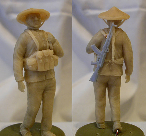 Скульптура:  Вьетнамская женщина-партизан