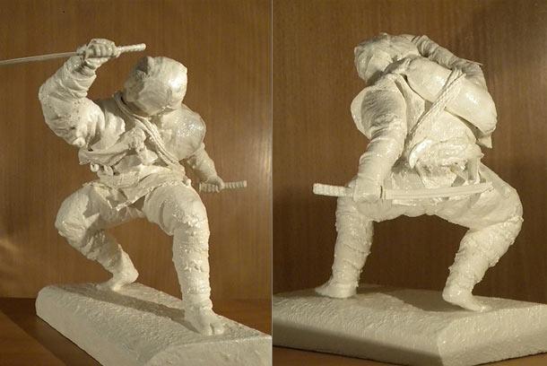 Скульптура: Ниндзя. Ночная тень