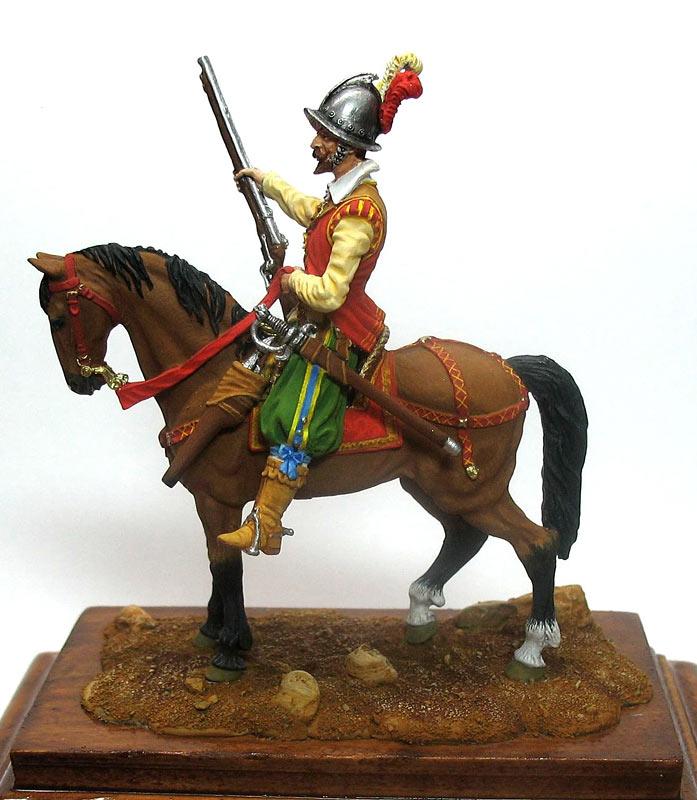 Фигурки: Конный аркебузир, начало XVIIв., фото #1