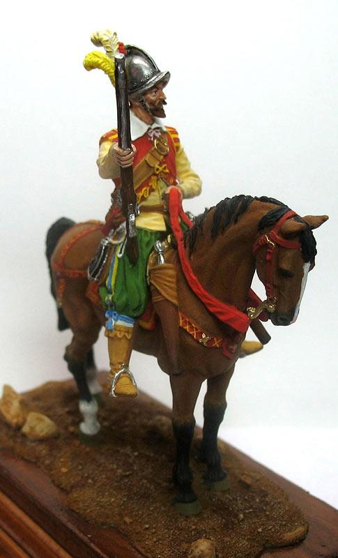 Фигурки: Конный аркебузир, начало XVIIв., фото #3