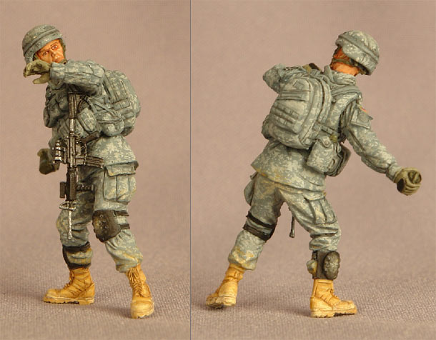 Фигурки: Солдат  2-й пехотной дивизии США