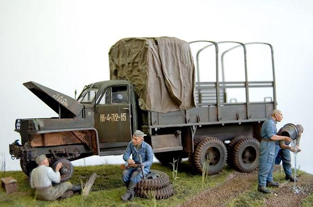 Диорамы и виньетки: Studebaker US6. Дороги войны