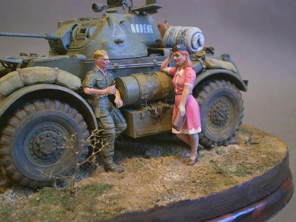 Диорамы и виньетки: Охота на охотника. Франция, лето 1944