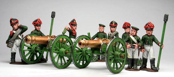 Фигурки: Русская  артиллерия, 1812 г.