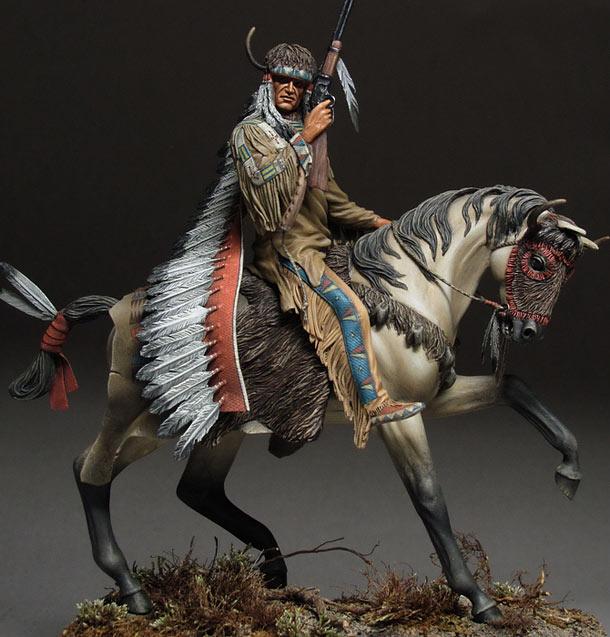 Фигурки: Воин племени лакота