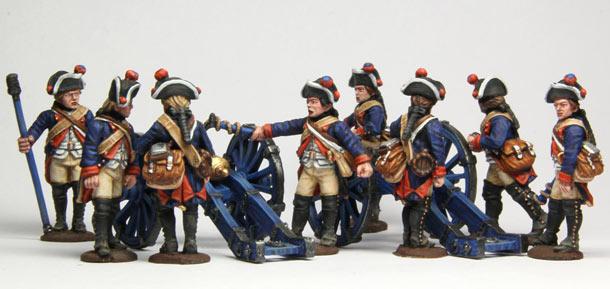 Фигурки: Гессенская артиллерия, война за независимость США