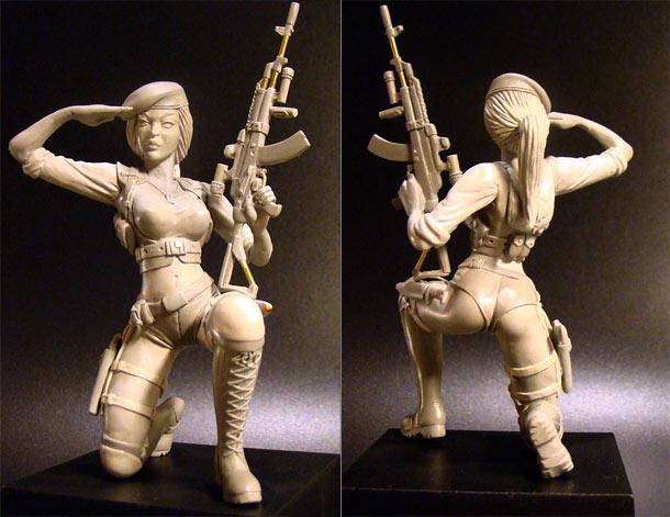 Скульптура: С Днем Защитника Отечества!