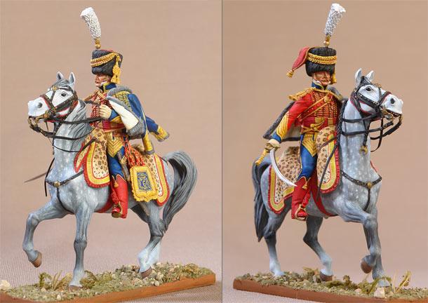 Фигурки: Полковник 6-ого гусарского полка. Франция, 1809