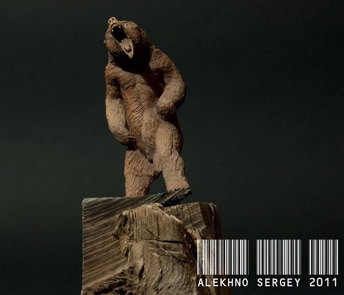 Скульптура: Медведь, хозяин тайги, фото #1