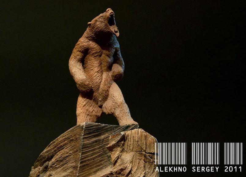 Скульптура: Медведь, хозяин тайги, фото #4