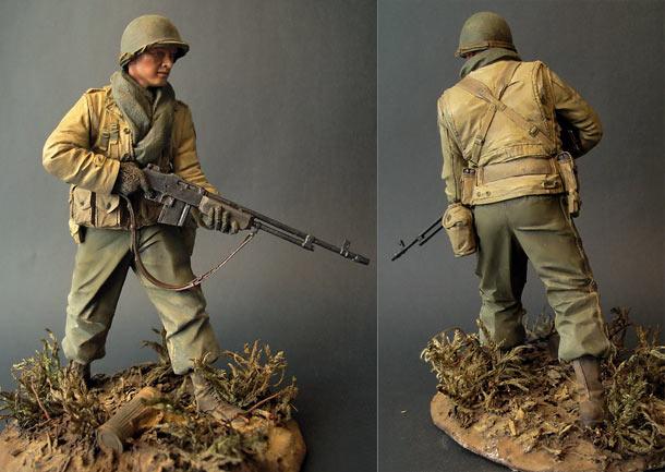 Фигурки: Боец 29-й пехотной дивизии армии США
