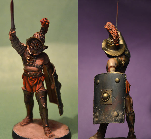 Фигурки римский гладиатор мирмиллон