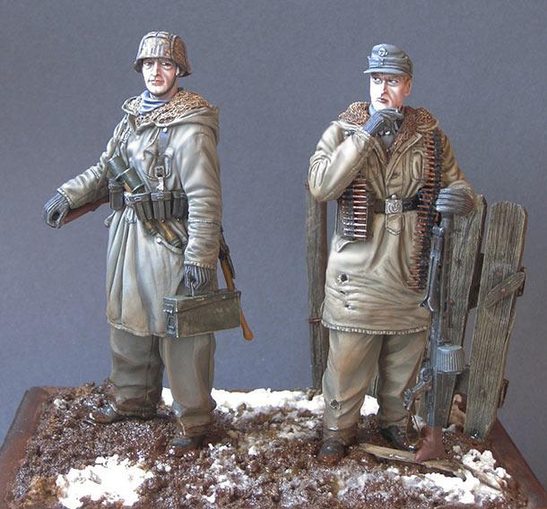 Фигурки: Пулеметный расчет дивизии СС «Totenkopf», Харьков, 1943