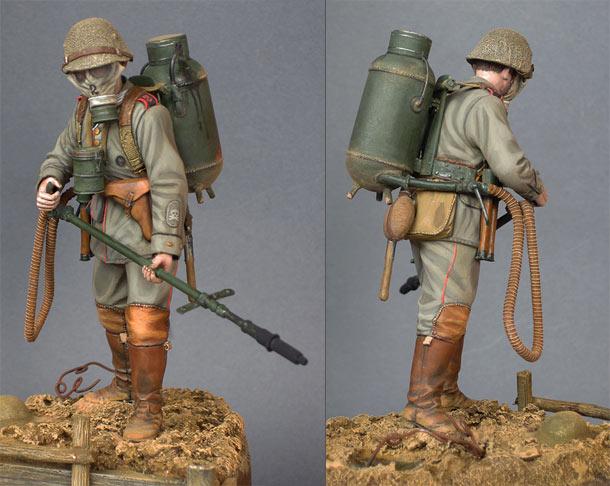 Фигурки: Германский огнеметчик, 1916 год