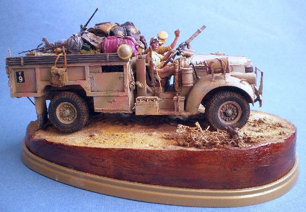 Диорамы и виньетки: Пустынный скорпион. LRDG, 1942