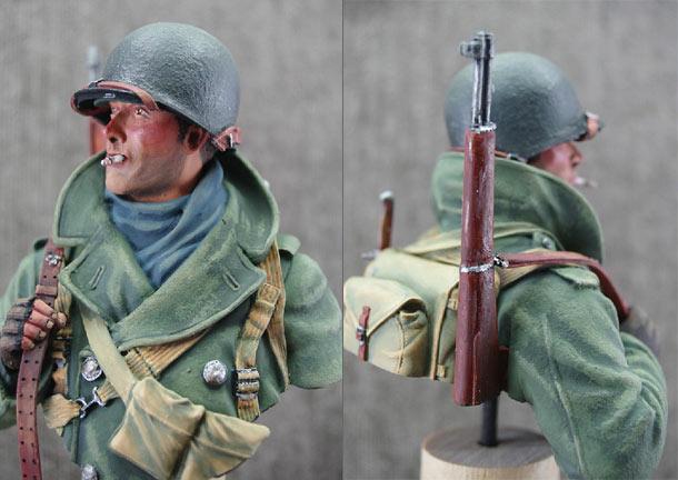 Фигурки: Пехотинец армии США, зима 1944-45