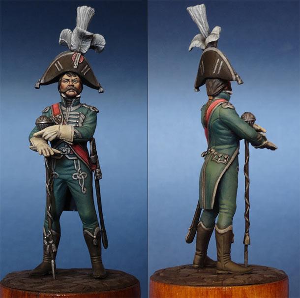 Фигурки: Тамбур-мажор французской императорской армии, 1810