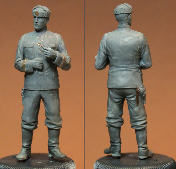 Скульптура: Капитан-лейтенант, СССР, 1939-43 г.