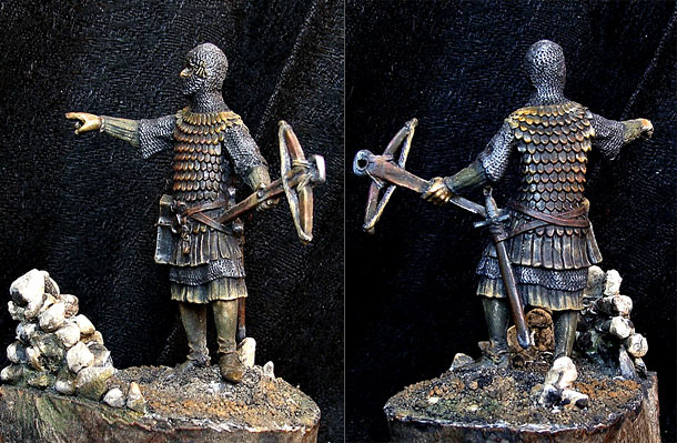 Фигурки: Немецкий арбалетчик, XIV век