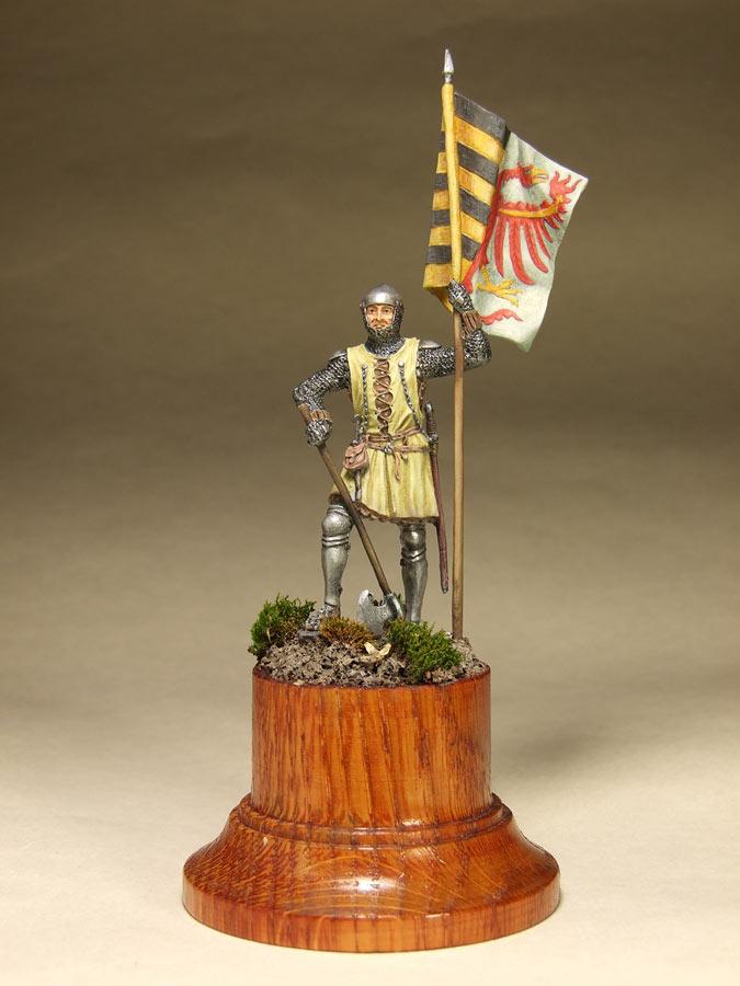 Фигурки: Саксонский знаменосец, сер. XIV в. , фото #1