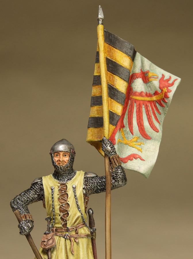 Фигурки: Саксонский знаменосец, сер. XIV в. , фото #10