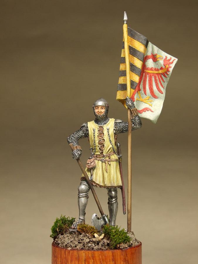 Фигурки: Саксонский знаменосец, сер. XIV в. , фото #9