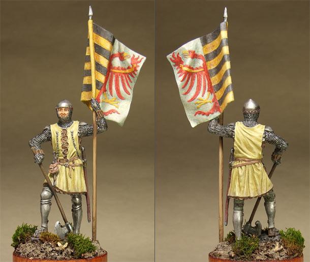 Фигурки: Саксонский знаменосец, сер. XIV в.