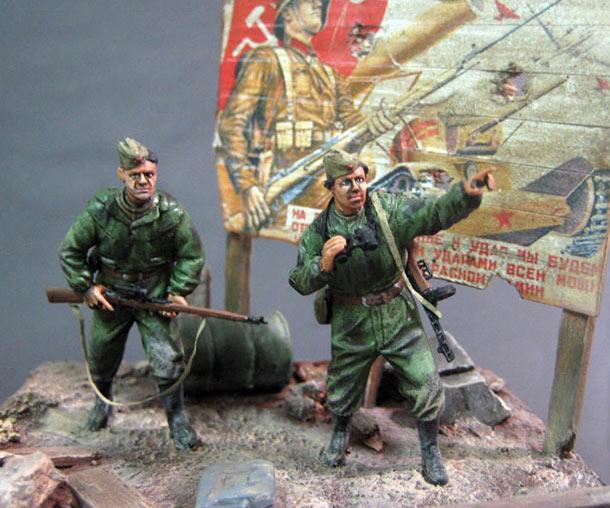 Диорамы и виньетки: Советские снайперы
