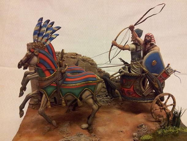 Диорамы и виньетки: Боевая колесница фараона, ХII в.до.н.э.