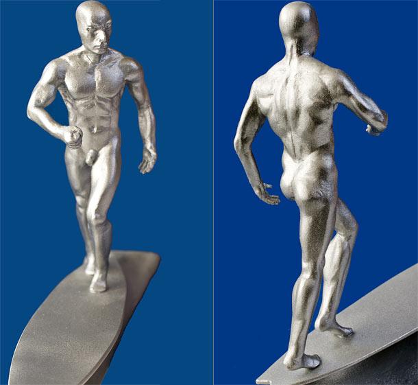 Скульптура: Серебряный Сёрфер