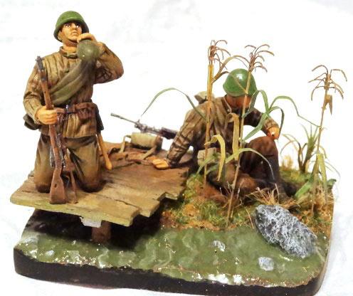 Диорамы и виньетки: Советские пулеметчики, фото #1