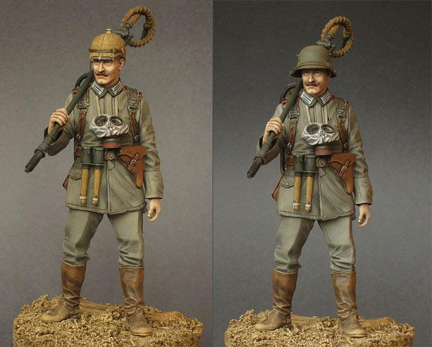 Фигурки: Германский огнемётчик, 1915 год