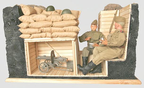 Разное: Открытое пулеметное гнездо с нишей-укрытием
