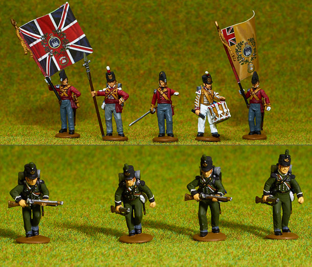 Фигурки: Британская линейная пехота, 1807 г (война в Испании)