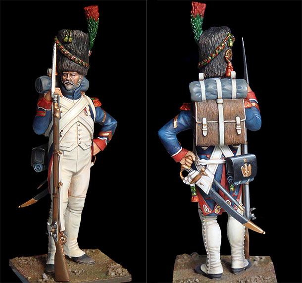 Фигурки: Сержант пеших егерей старой гвардии, 1810-15 гг.
