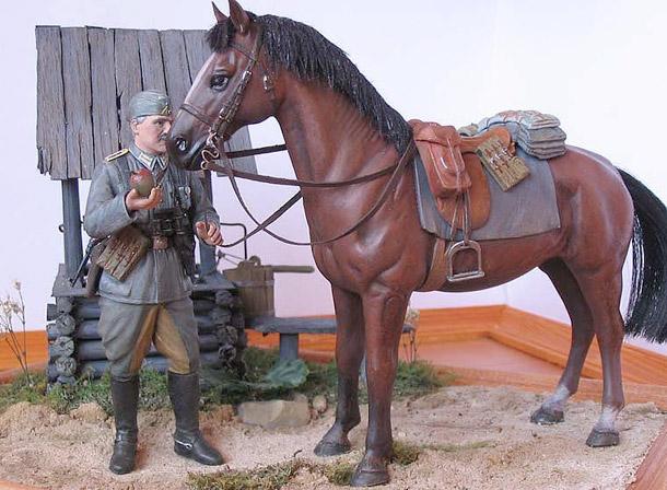 Диорамы и виньетки: Обервахмистр кавалерии вермахта
