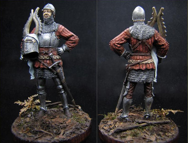 Фигурки:  Европейский рыцарь, XIV в.