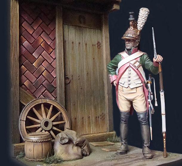 Фигурки: Драгун 16-го драгунского полка в походной форме, 1805